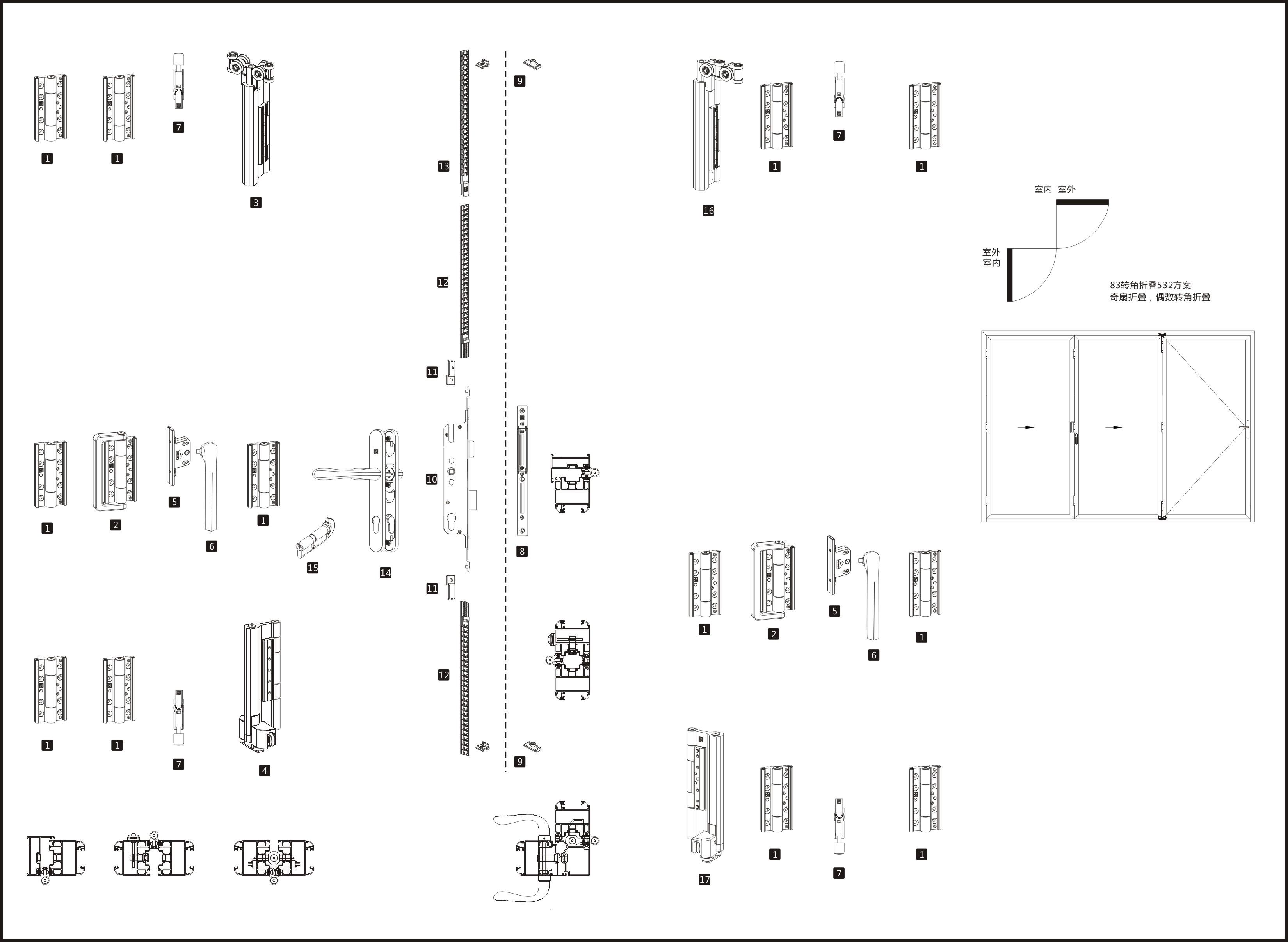 83转角折叠系统532配置清单